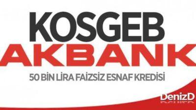 Akbank KOSGEB Kredisi