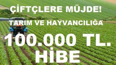 Tarım ve Hayvancılığa 100 Bin TL. Hibe Verilecek!  Çiftçilere Müjde!