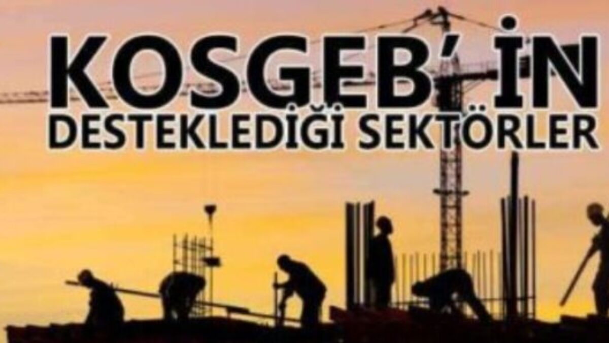 KOSGEB Desteklenen Sektörler Nelerdir? Mayıs 2021 Güncel Liste