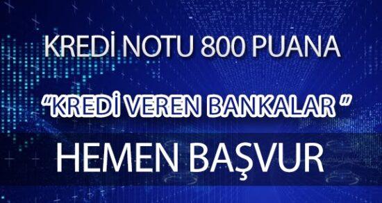 800 Puana Kredi Çıkaran Bankalar (TIKLA BAŞVUR)